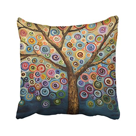 WinHome Decorative Love Tree Wave Polka Dot Cute Adorable Custom Soft Pillow Case Cover Best Christmas Birthday Gift For Kids Child Boy Girl Son Daughter Nephew Niece Size 18x18