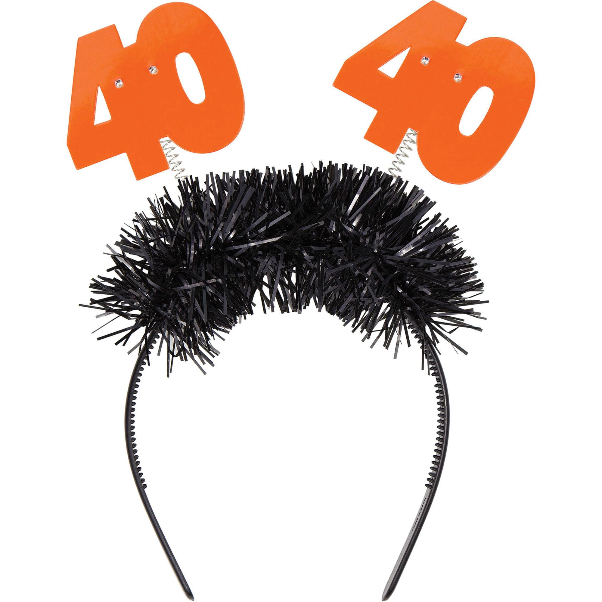 Flashing 40th Birthday Headband, 1pk