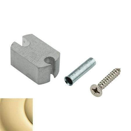 Baldwin 4209031 0.75 in. Riser for Dome Bumper, Non-Lacquered Brass