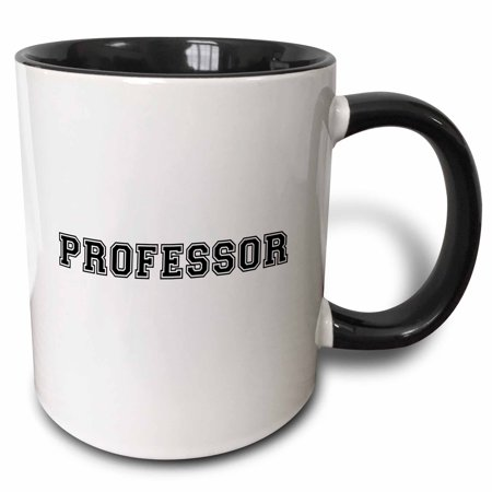 3dRose Professor and proud - Academic gifts - university or college lecturer teacher prof gifts -Black text - Two Tone Black Mug, 11-ounce](Halloween Teacher Gifts)