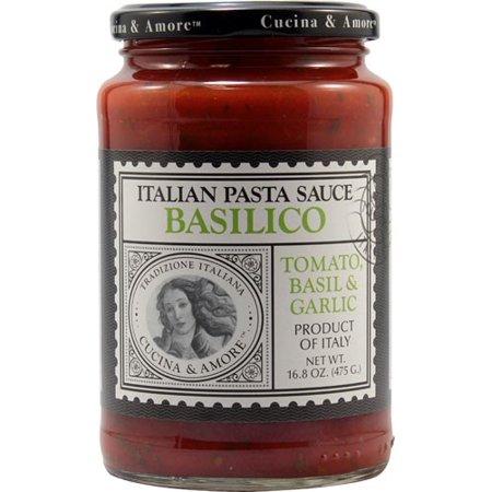 Cucina & Amore Italian Pasta Sauce, Basilico, Tomato Basil & Garlic, 16.8 Oz