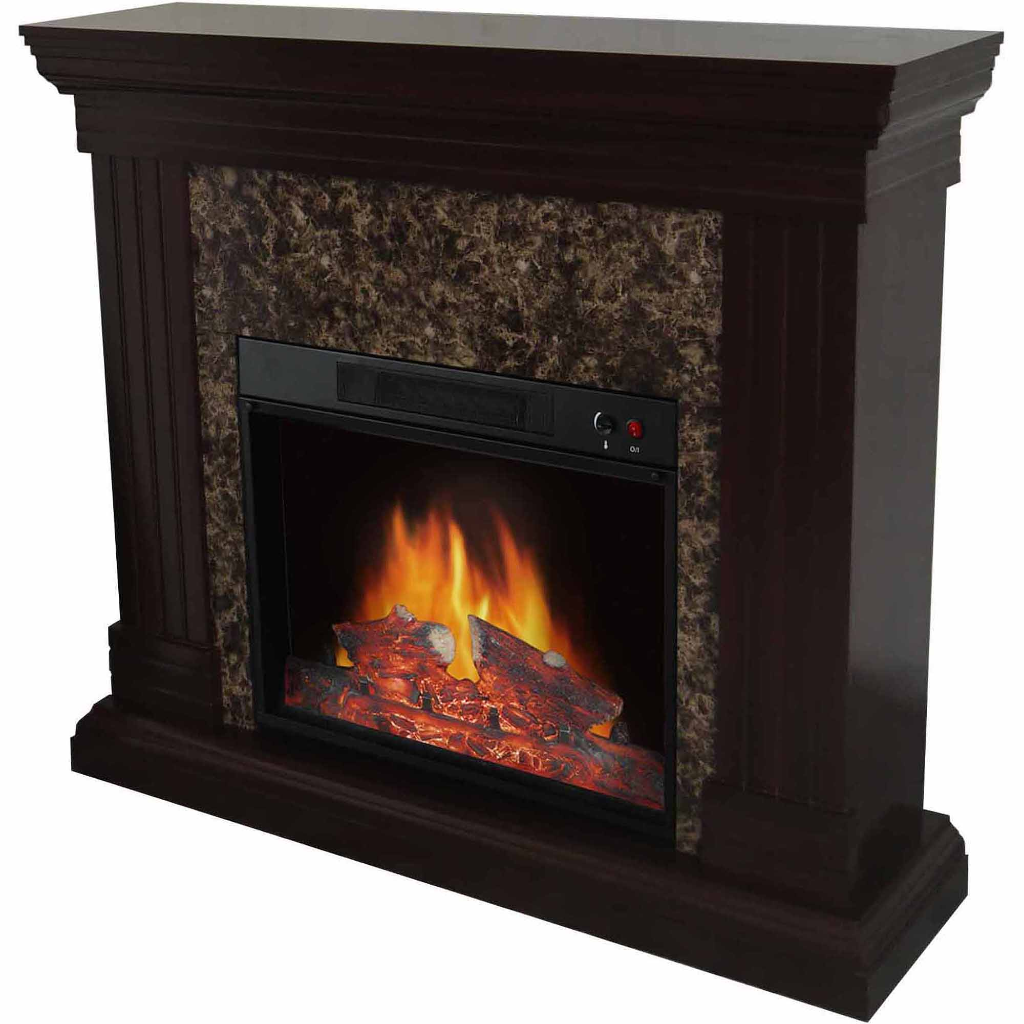 "Free Shipping. Buy Decor Flame Electric Space Heater Fireplace with 44"" Mantle at Walmart.com"