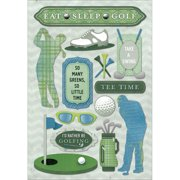 Cardstock Stickers-Eat, Sleep, Golf