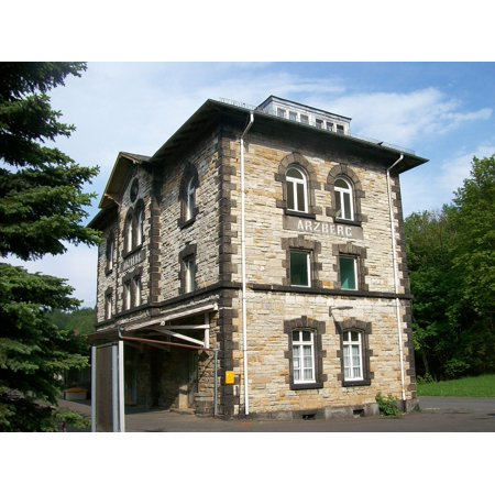 LAMINATED POSTER Railway Station Building Arzberg Railway Station Poster Print 24 x 36