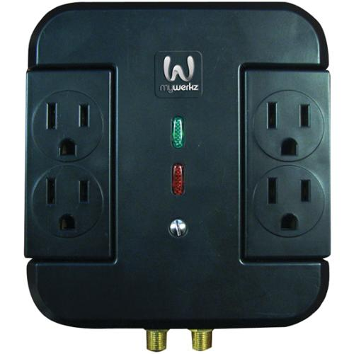 MYWERKZ 44910 4-Outlet Surge Protector