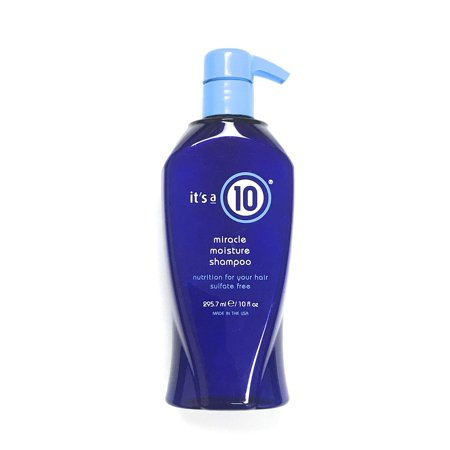 It's A 10 Miracle Moisture Shampoo 10 Oz, Sulfate Free Nutrition For Your
