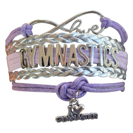Gymnastics Bracelet- Girls Gymnastics Infinity Bracelet- Gymnastics Jewelry - Perfect Gift For Gymnast, Gymnastic Coaches & Gymnastics Teams