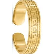 14k Yellow Gold Greek Key Toe Ring
