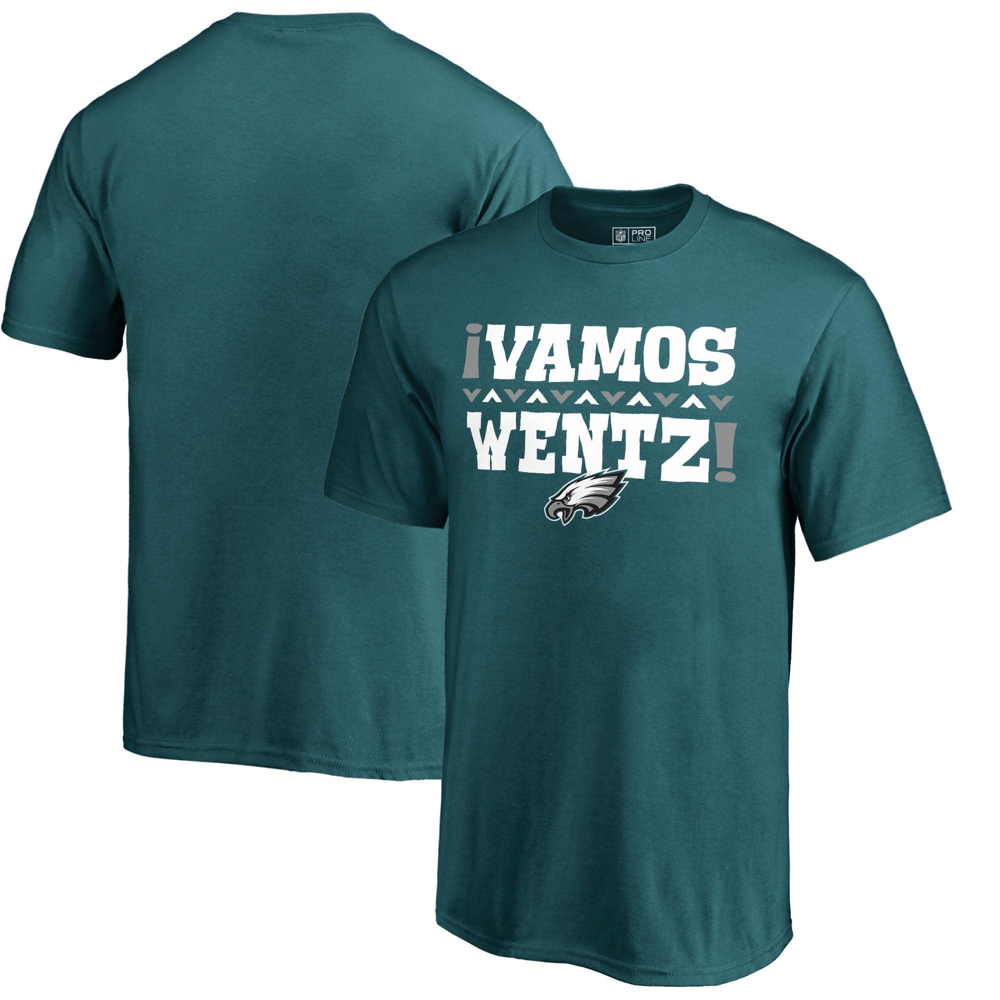 Carson Wentz Philadelphia Eagles NFL Pro Line by Fanatics Branded Youth Vamos T-Shirt - Midnight Green