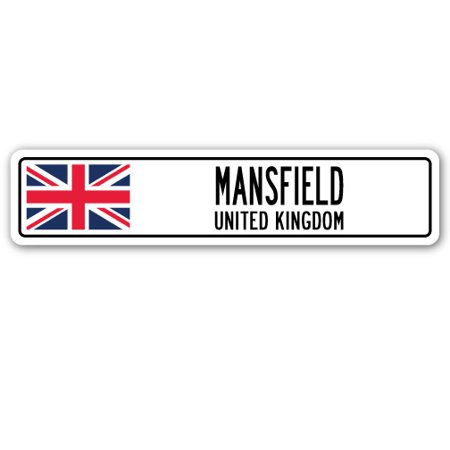 MANSFIELD, UNITED KINGDOM Street Sign British Britons Brits flag city  gift for $<!---->