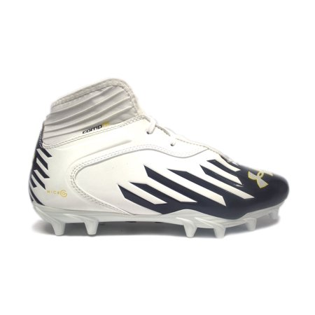 Under Armour TM Nitro IV Mid MC Compfit Football Cleats, Orange Flash/White/Black, Size 12 (Md Mid Football Cleat)