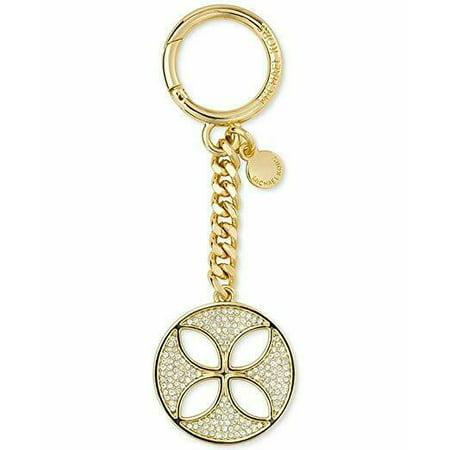 NWT  Michael Kors Women's Flora Rhinestone Stud Fashion Keychain, Gold ()