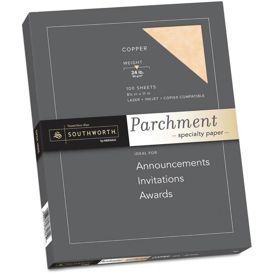 Southworth Parchment Specialty Paper, Ivory, 8-1/2 x 11, 100/Box