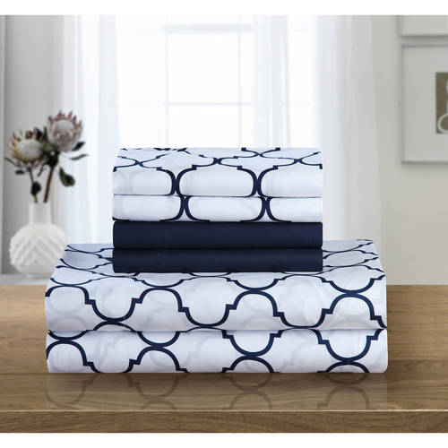 Chic Home Tymon 6-Piece Bedding Sheet Set with 2 Bonus Pillowcases
