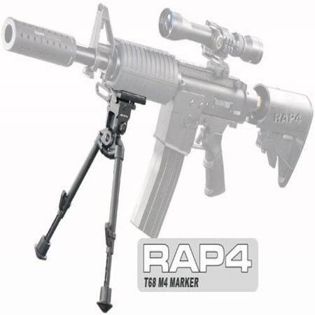 M4 Carbine RIS Bipod with 45 Degree Swivel for Tippmann 98 - paintball pod