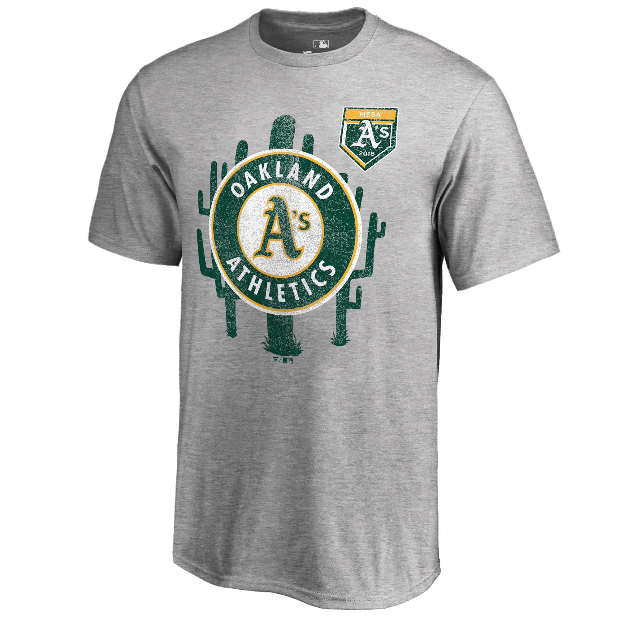 Oakland Athletics Fanatics Branded 2018 Spring Training T-Shirt - Heathered Gray