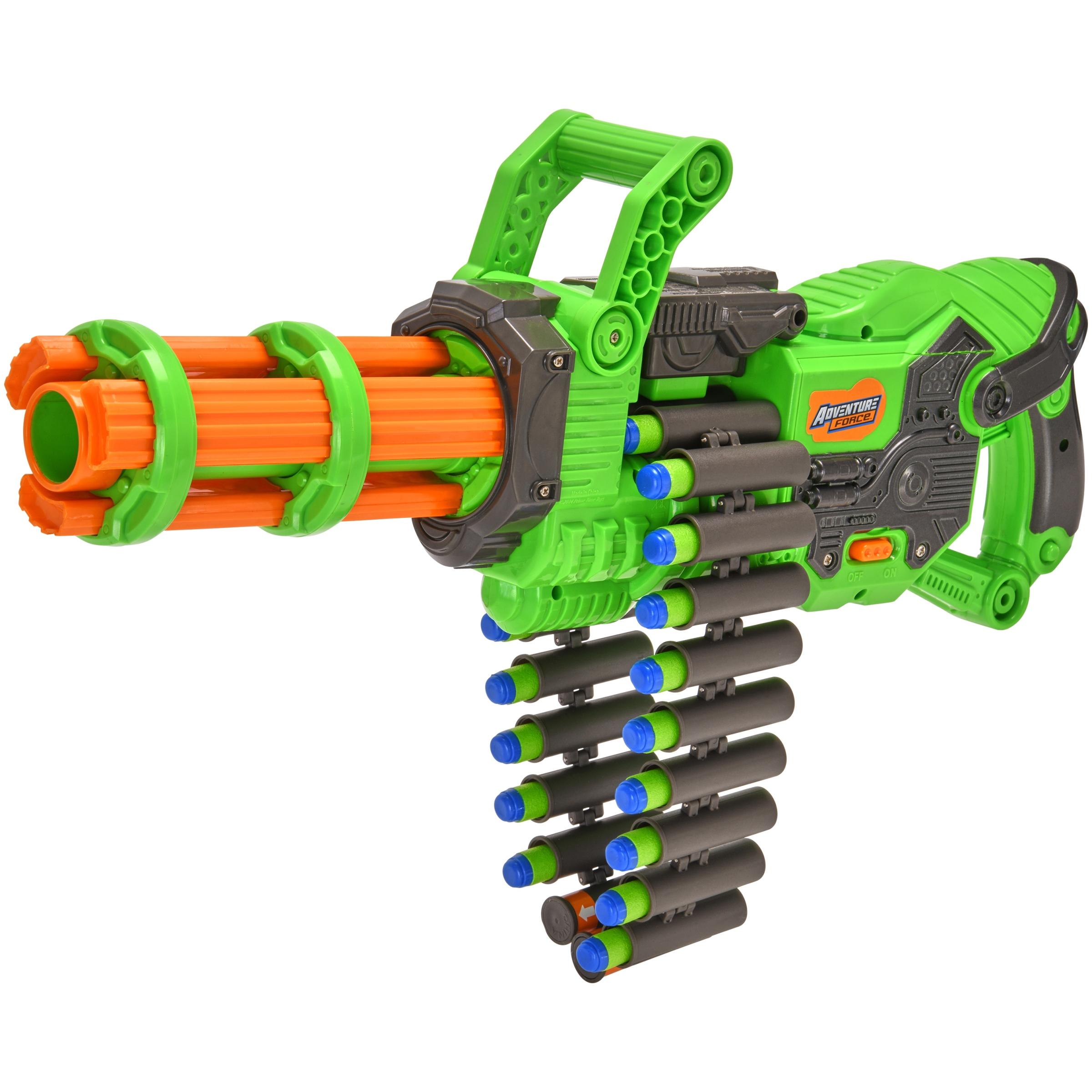 Adventure Force Scorpion Rotating Barrel Auto Gatling Blaster, Green