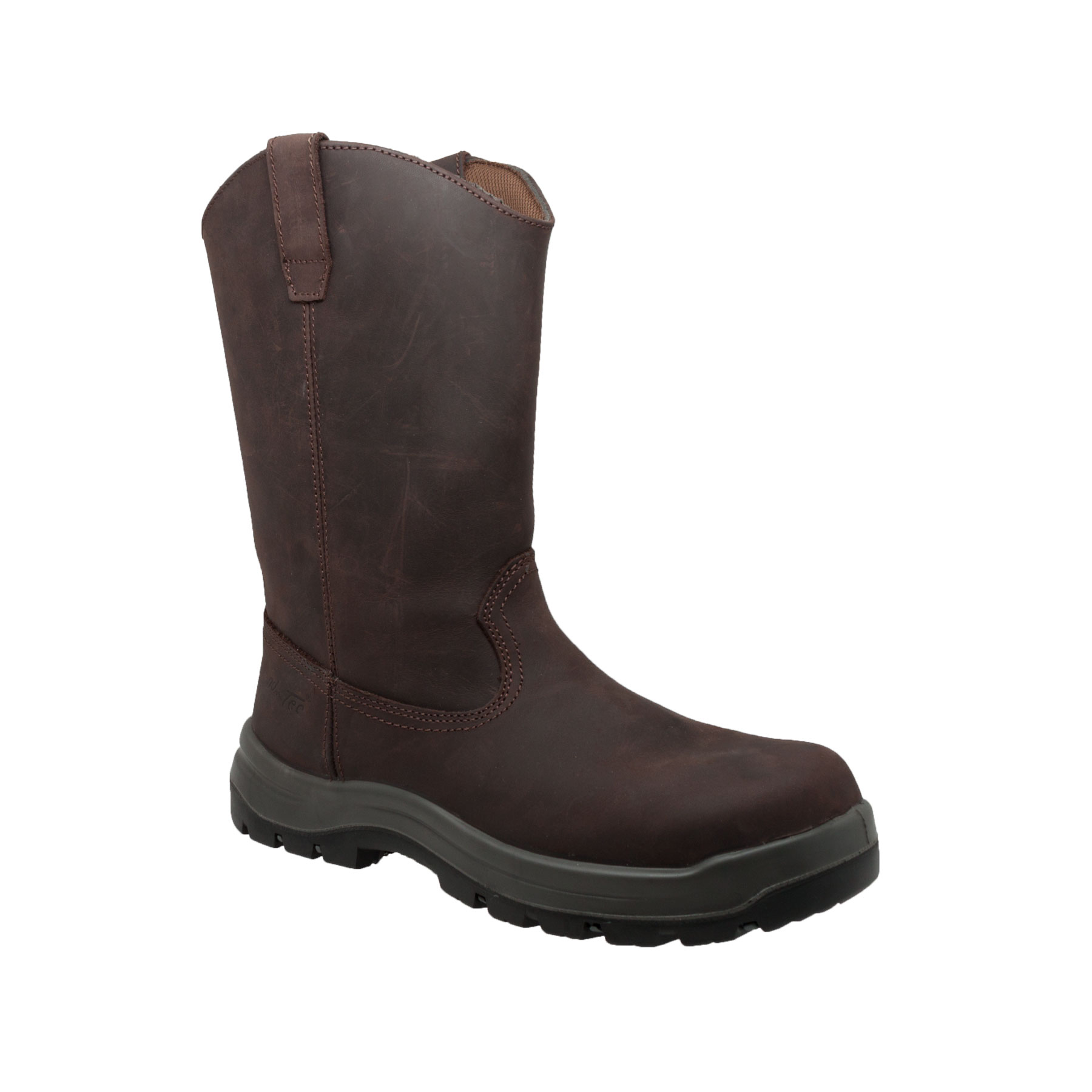 "Adtec Men's 12"" Leather Waterproof Wellington, Dark Brown..."