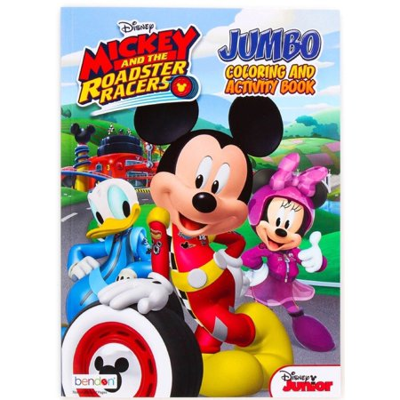Coloring Book - Mickey Mouse - Party Favors - 96 Pages - Roadster Racers - Mickey Mouse Coloring Books