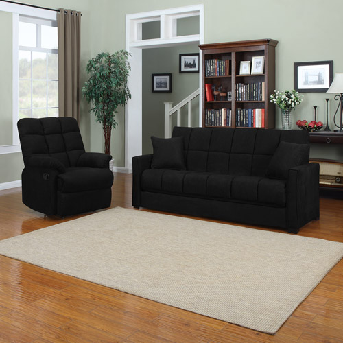 Baja Convert-a-Couch Sofa Bed with Recliner, Multiple Colors