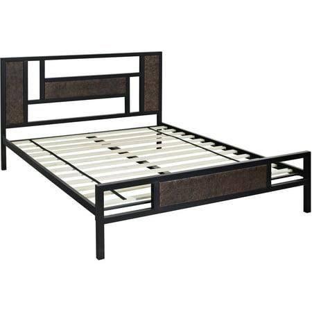 Hyde Park Metal Queen Platform Bed Frame Walmart Com
