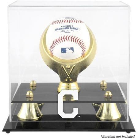 (Cleveland Indians Golden Classic Single Baseball Logo Display Case)