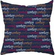Checkerboard, Ltd Bronco Throw Pillow