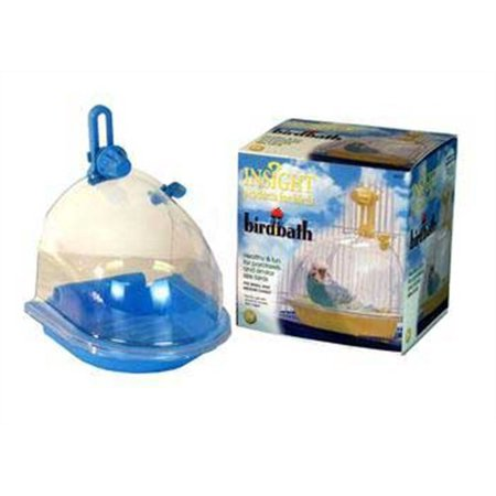 JW Pet Company Insight Bird Bath Bird Accessory The Insight Bird Bath is designed to fit on the main door of most small and medium cages. This bath has a brightly colored base and a clear cover so you can watch you bird splish and splash. The easy screw on attachment makes this bath not only fun and healthy for your bird but convenient and easy to use for you. All of our products comply with international quality standards and are greatly appreciated.If you are interested in any of our products or would like to discuss a custom order, please feel free to contact us. High quality, good service.We are looking forward to forming successful business relationships with new clients around the world in the near future.