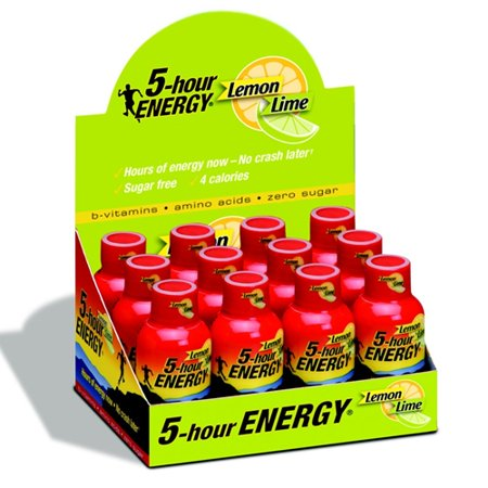 5 HOUR ENERGY Tir citron 12 Paquet de chaux 2 bouteilles Ounce