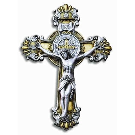 - St. Benedict Crucifix Jesus Wall Cross Religious Wall Decor