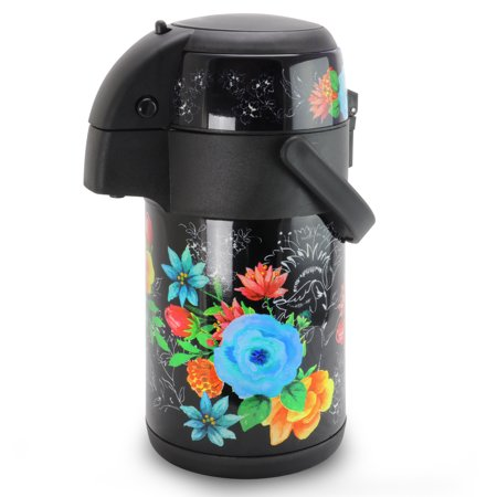 Gibson Home Floral Garden 75 oz. Stainless Steel Pump Pot with