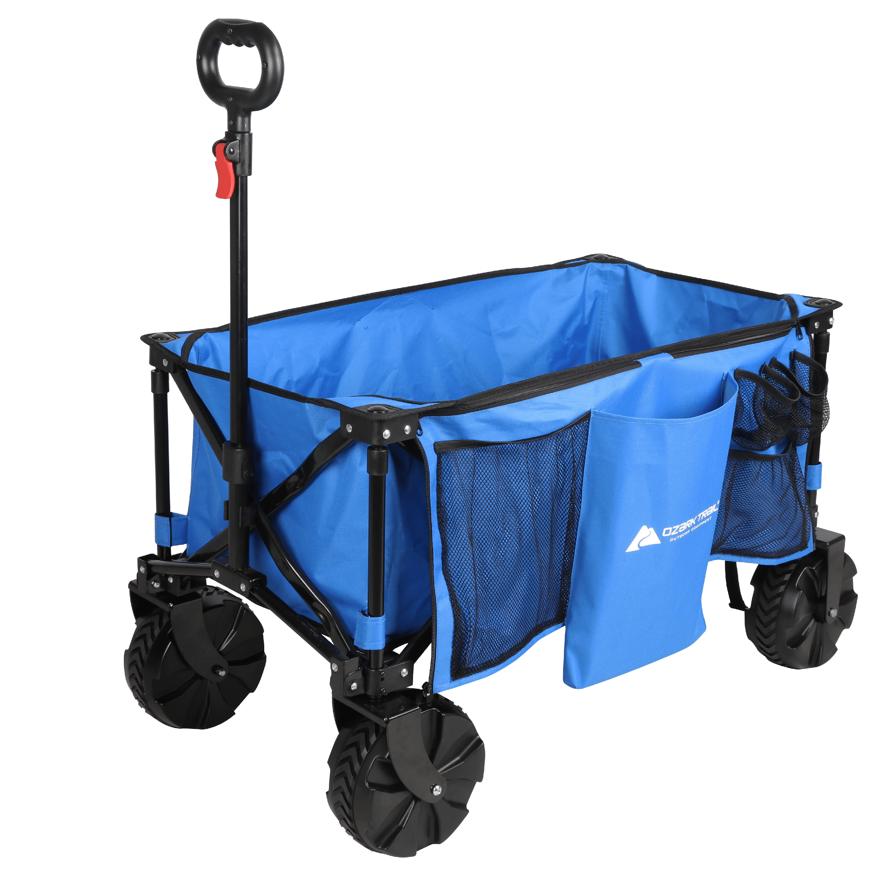 3In1 Beach Trolley//Chair//Table Storage Pouch Foldable Functional Fishing Blue