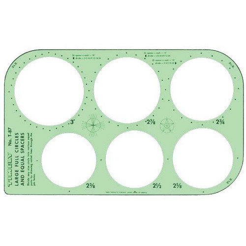 Timely Full Circles and Equal Spacer Template (Set of 2)