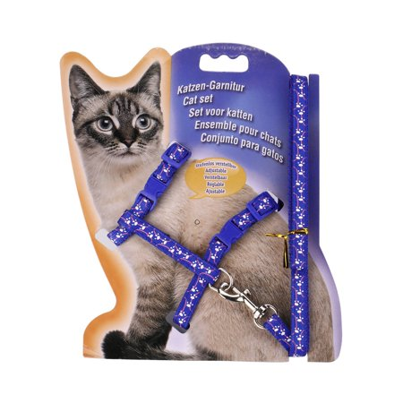 Rope Choke Collar (Nylon Pet Cat Kitten Adjustable Lead Leash Collar Belt Safety Rope BU)