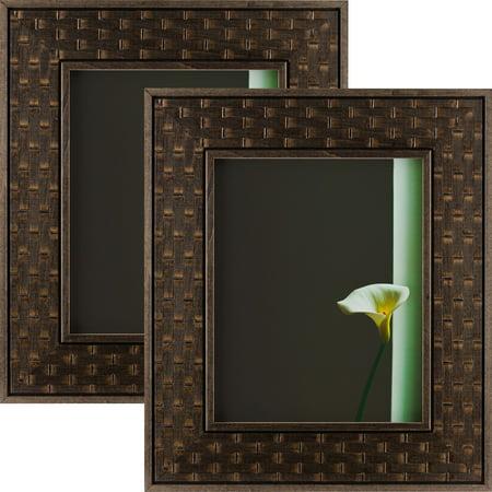 Craig Frames Russet Basket Dark Brown Hardwood Picture Frame 20x30