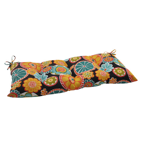 Pillow Perfect Rondo Outdoor Loveseat Cushion