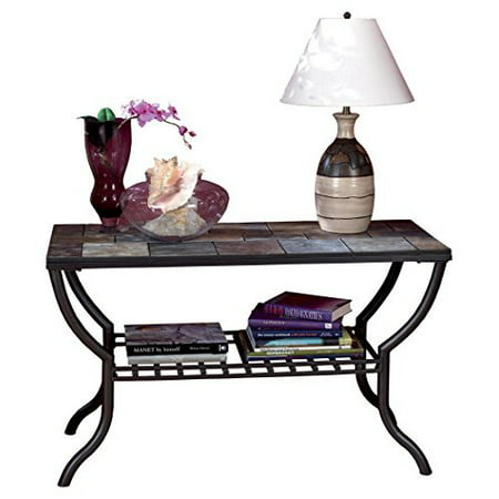 Superb Ashley Furniture Signature Design Antigo Sofa Table With Console Slated Top With Metal Bottom Contemporary Black Download Free Architecture Designs Remcamadebymaigaardcom
