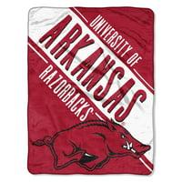 "NCAA Arkansas Razorbacks 46"" x 60"" Micro Raschel Throw, 1 Each"
