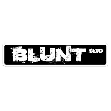 Blunt Peach - BLUNT BLVD Aluminum Street Sign phillies philly funny pot marijuana | Indoor/Outdoor |  24