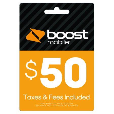 $50 Re-Boost Card (email delivery) Boost Mobile Unlimited