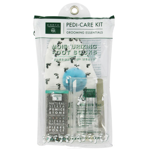 Earth Therapeutics Grooming Essentials Pedi-Care Kit Moisturizing Foot Socks - 1 Ea