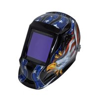 "Instapark ADF Series GX990T Solar Powered Auto-darking Welding Helmet with 4 Optical Sensors, 3.94"" X 3.86"" Viewing Area and Adjustable Shade Range #5 - #13"