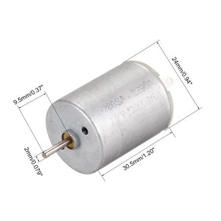 DC Motor 7.2V 11000RPM 0.1A Electric Motor Round Shaft for RC Boat Toys DIY 5Pcs - image 2 of 5