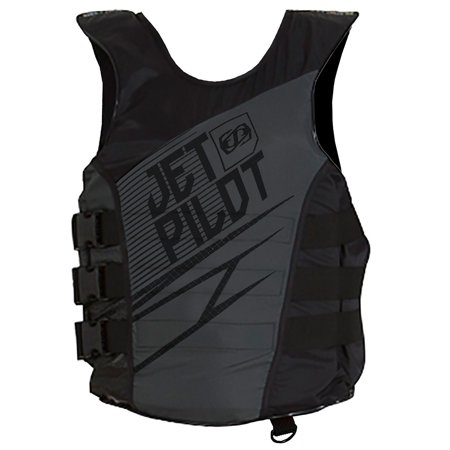 JetPilot Men's Matrix Nylon Side Entry PFD Life Vest Jacket (Large/X-Large,)