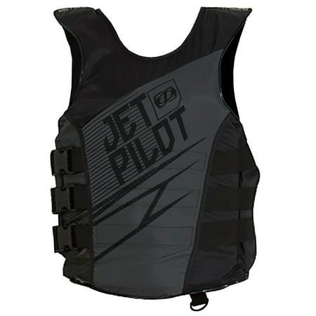JetPilot Men's Matrix Nylon Side Entry PFD Life Vest Jacket (Large/X-Large,)