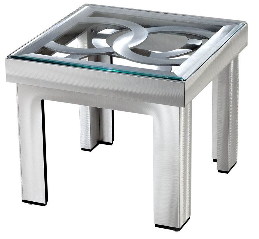 Silver Circles End Table