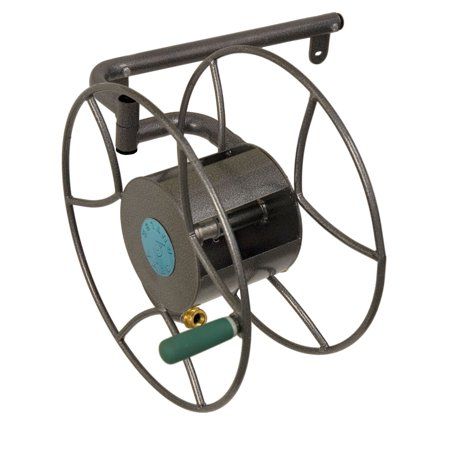 Yard Butler Wall Mounted Heavy Duty Steel 180 Degrees Swivel Garden Hose Reel