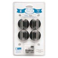 Range Kleen 16-Piece Replacement Knob Kit for 4 Knobs, Gas Ranges, Black
