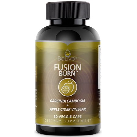 BeLive Fusion Burn Apple Cider Vinegar Weight Loss Pills with Garcinia Cambogia, Green Tea ExtraCt, Raspberry Ketones, & CLA, Veggie Ctules, 60
