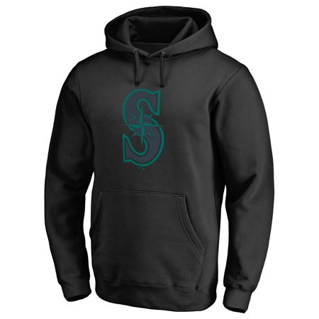 Seattle Mariners Youth Fleece Pullover (Seattle Mariners Taylor Pullover Hoodie - Black )